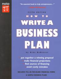 How To Write A Business Plan - Nolo